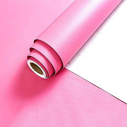LKOIU Zelfklevende Wallpaper_Achtergrond Eenvoudige Effen Kleur Matte Zelfklevende Mat poeder