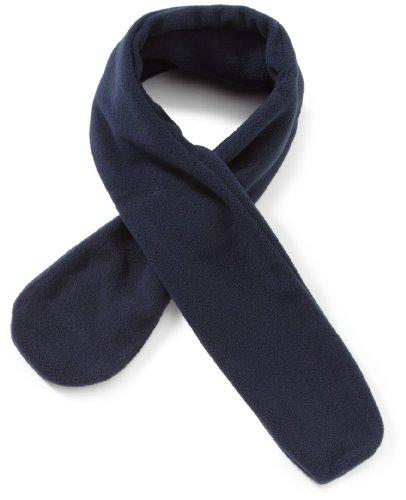 Playshoes Kinder-Unisex Schal aus Fleece-Steckschal kuschelig weicher Halswärmer mit Schlaufe zum Einstecken, Marine, one size