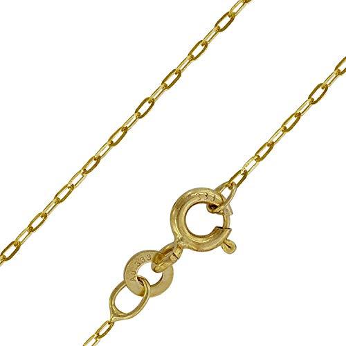 trendor Goldkette für Frauen 333 Gold Weitanker 0,6 mm breit 73815-42 42 cm