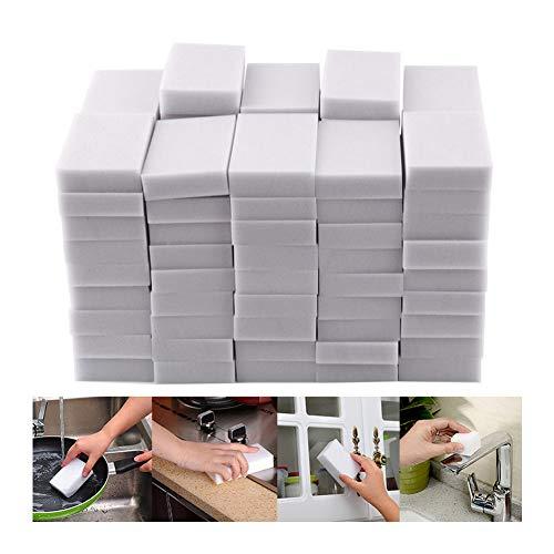 Atcool Schmutzradierer Magic Eraser - Langlebiger Premium Reinigungsschwamm - Schwamm Reinigungspads für alle Oberflächen - Badewanne, Boden, Fußleiste, Badezimmer, Wandreiniger (10x6x2cm, 100 Stück)