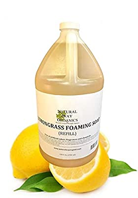 Natural Way Organics Lemongrass Foaming Hand Soap Refill Gallon 128 oz