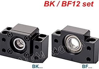 One Set 2pcs Ballscrew End Supports 1pcs BK12 Fixed Side + 1pcs BF12 Floated Side for CNC Router parts RM / SFU1605 1610 Ballscrew 1604 Ball Screw