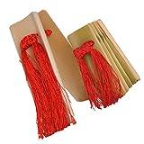 Chiwanji Pulido 2 piezas hecho a mano bambú Clappers Castañuelas Grande y Pequeño para Castañuelas Principiantes