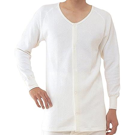 コベス BM1 ワンタッチ肌着 前開きシャツ長袖 (綿キルト冬用) 紳士 マジック式 M (日本製)