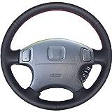 NsbsXs Für Honda CRV CR V Accord 6 Odyssey Prelude Civic 1996 2002 Acura CL 1998 2003 Schwarz PU Autolenkradabdeckung