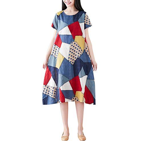 Alikey 2019 etnische jurk, korte mouwen, linnen, katoen, gestreept, stijl voor vrouwen, lang, bloemmotief, zonder mouwen, geruit, lente, zomer, herfst, eenkleurig, boho, grote maat