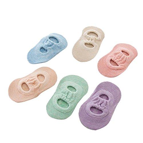 ZUMUii Butterme bébé enfant 6 Paires Chaussettes Anti-Glissement Chaussettes en Coton Chaussettes Mixte bébé