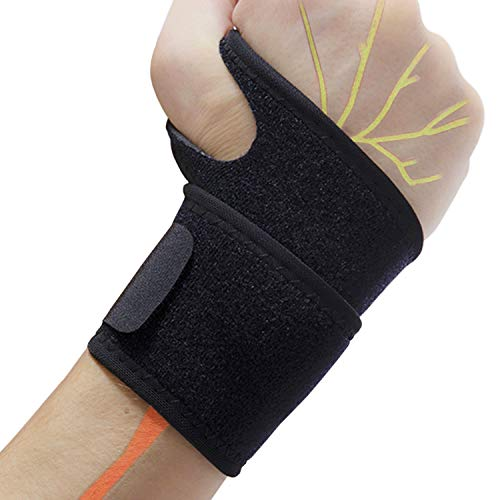 Profession Wrist Support Brace, Adjustable Wrist Wraps, Wrist Straps, Wrist Bands for Working Out, Weightlifting Men, Carpal Tunnel for Women, Trigger Finger, Pain Relief, Arthritis, Tendonitis and Sprained, Lightweight and Breathable (Single)