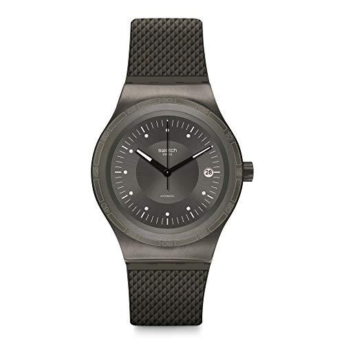 Swatch Reloj Analógico para Hombre de Automático con Correa en Caucho YIM401