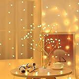 GARNECK - Luz nocturna LED con forma de árbol alimentada por batería, alimentada por USB, ramas ajustables, lámpara de mesa romántica para decoración doméstica