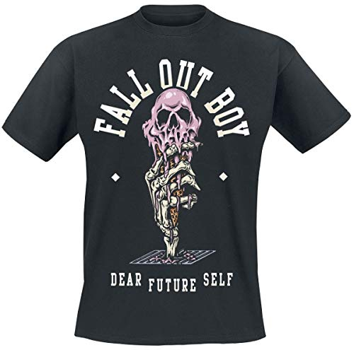 Fall Out Boy Dear Future Self Uomo T-Shirt Nero M 100% Cotone Regular