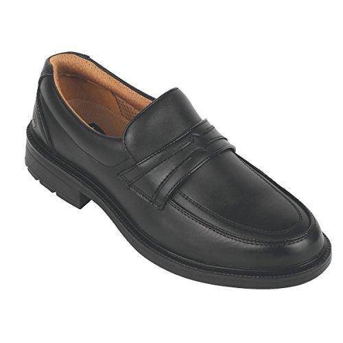 City Knights - Zapatos de seguridad ejecutivos, color negro, talla 10