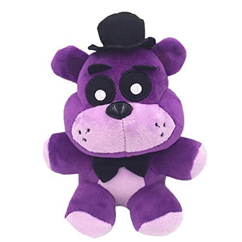 ZXCS Cinco Noches En El Juguete De Peluche De Freddy Freddy De18 Cm,Juego De Animales De Oso PúrpuraFNAFJuguetes De Navidad De Cumpleaños para Niños