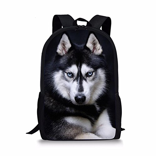 HUGS IDEA Mochila infantil, Husky (Negro) - Y-W1662C