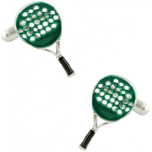 MasGemelos - Gemelos Raqueta Padel Verde Cufflinks