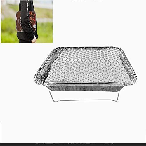 Lhh Einweggrill, Handliche Camping Grill BBQ Mit Kohle, Picknick/Grill/Instant Picknickgrill Art. (Mini-Grill)