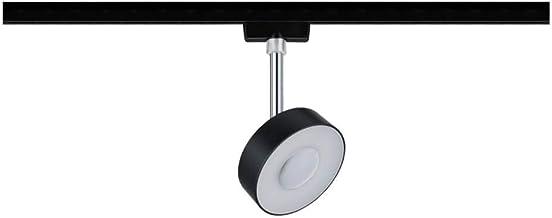 Paulmann 969.39 URail LED-spot cirkel 5W zwart mat/chroom 4000K metaal/kunststof dimbaar