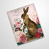 BYRON HOYLE Hydrangea Easter Bunny Wreath Sign Rabbit in Pink Flowers Sign For Wreaths Spring Wreath Enhancement Funny Metal Signs Wall Decor Poster Wall Display Vintage Man Cave Yard Signs