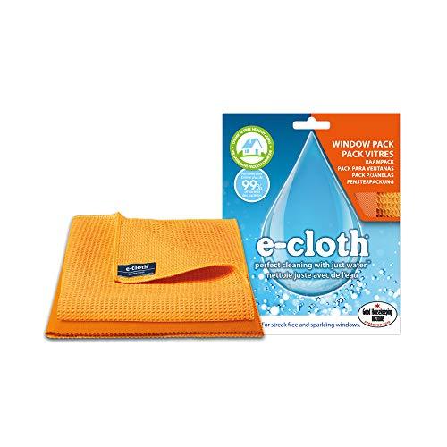 E-Cloth 8930107 Lavette pour Vitre/Chiffon à Lustrer Polyamide Aléatoire 32 x 32 x 0,2 cm