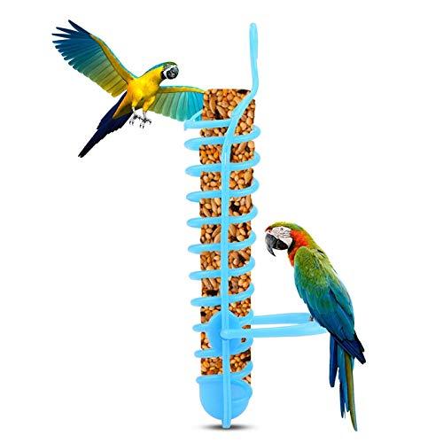 NuanXing Bird Feeder Feeder Basket Plastikfutter Obst Fütterung Barsch Ständerhalter mit Schloss für Heimvogelbedarf Einfach zu füttern