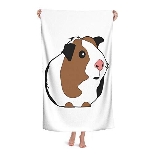 Toalla de baño fina a rayas de Guinea-Pig de moda, súper suave y superabsorbente, pequeña toalla de baño, decoración de baño