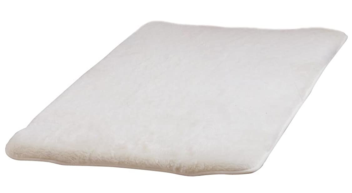 スケルトン誓いボット洗える敷きパット オーストラリア産 天然ウール アイボリー ダブル