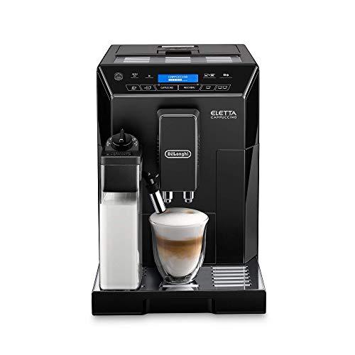 DeLonghi Eletta Black Cappuccino Top Digital Super Automatic Machine with LatteCrema System