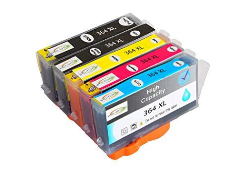Reemplazo de Paquete de 5 Wintinten para Cartuchos de Tinta HP 364 364XL compatibles con impresoras HP Photosmart C5324, C5370, C5373, C5380, C5383, C5388, C5390, C5393, C6300, C6324, C6380