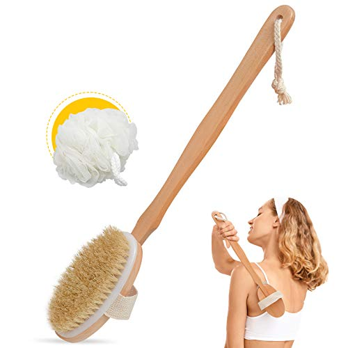 Body Brush for Bath or Shower - Dry or Wet Skin Exfoliating...