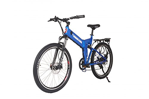 X-Treme Scooters - X-Cursion Elite New Version, Folding Electric Mountain Bicycle - Lithium Powered (Blue)