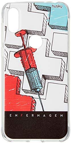 Capa Personalizada para Motorola One - Profissões Enfermagem - Husky, Husky, Capa Protetora Flexível, Colorido