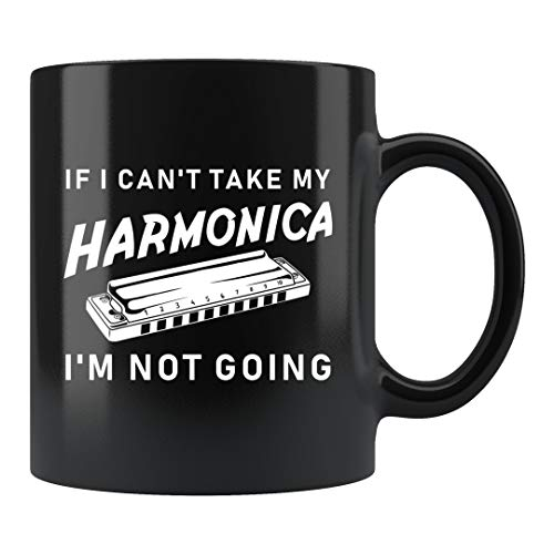 Taza divertida de armónica, taza de arpa, regalo arpista, regalo arpista, taza de jugador de armónica, taza de 325 ml