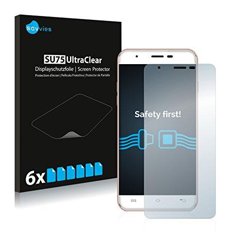 Savvies 6X Schutzfolie kompatibel mit Oukitel U7 Max Bildschirmschutz-Folie Ultra-transparent