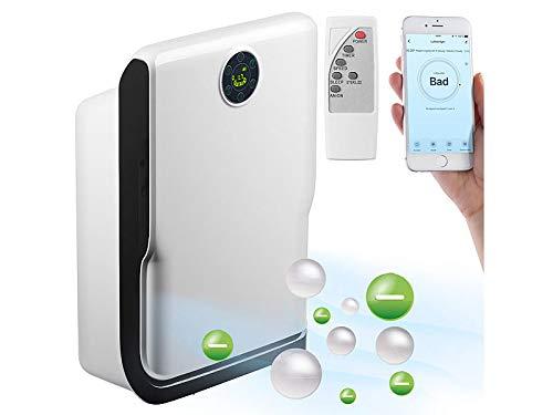 Sichler Haushaltsgeräte UV Luftfilter: 6-Stufen-Luftreiniger mit UV, Ionisator, WLAN & App, Alexa-kompatibel (Luftwäscher)