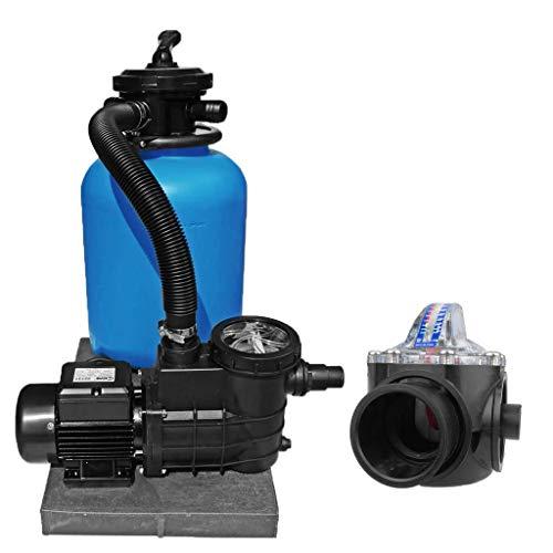 well2wellness® Pool Sandfilteranlage TOP 300 mit Filterpumpe Aqua Plus 4 inkl. FlowVis Durchflussmengenmesser