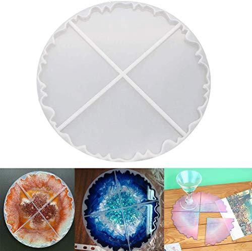 Wave Achat Untersetzer Harz Gussform Silikon Herstellung Epoxy Form Ton Untersetzer Epoxidharz Form für Heimdekoration Handwerk DIY