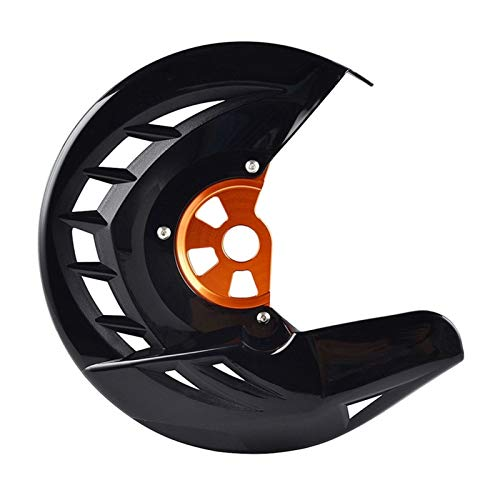 Gzcfesbn Cubierta del Protector de la Motocicleta Disco de Freno Delantero for KTM CRF XR YZF WR Durable (Color : Black)