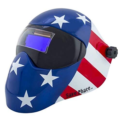 Save Phace Auto-Darkening Welding Helmet - Patriotic Graphics, Model Number 3012480