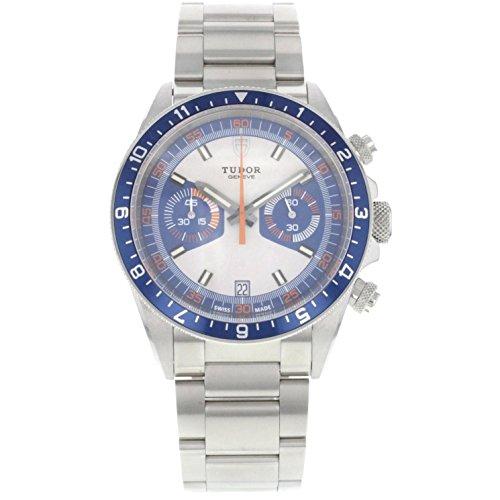 Tudor Patrimonio de la Hombres 42mm acero pulsera y caso automático analógico reloj 70330b