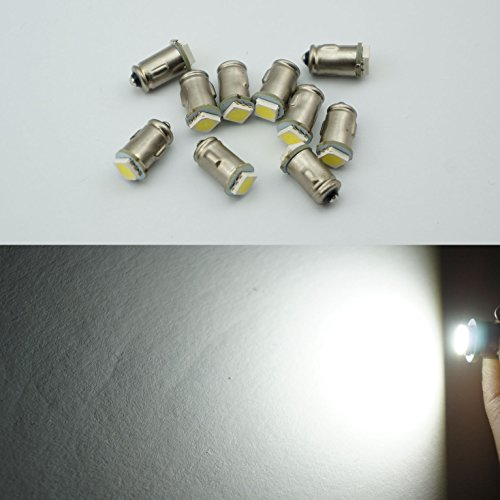 10 x 12 V Ba7s P282 1 LED Tableau de bord avertissement commutateur ampoule Couleur Blanc