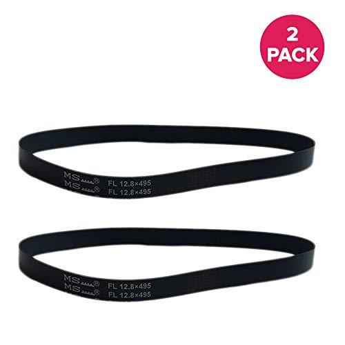 Crucial Vacuum Replacement Belt Parts # 61110A, 61110C, Style R, 61110 - Compatible with Eureka Belts - Fit Models 4870AT, 4870BT, 4870DT, 4870F, 4870G, 4870GZ, 4870GZX, 4870HZ - Bulk (2 Pack)