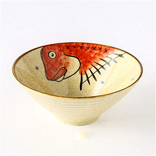 GCE Cuencos Cuenco de cerámica Sopa de Fideos arroz Cuenco de arroz Cuenco de Ensalada de Frutas Cuenco de celebración 4 9 Pulgadas
