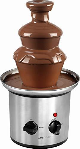 Schokobrunnen Groß für Partys Edelstahl Schokoladenbrunnen Elektrisch Schokolade 500 g (Glatte Kaskaden, für Früchte und Gebäck, Tiefe Auffangschale)