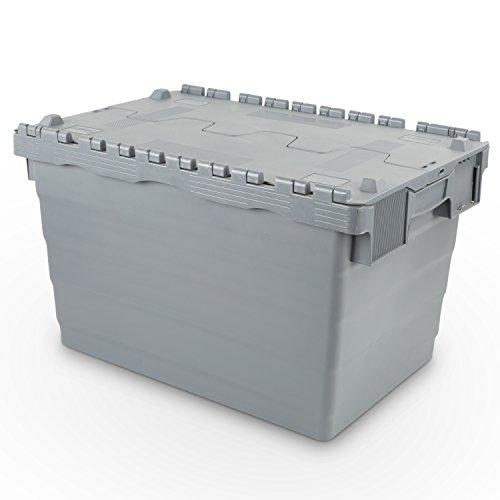 Mehrwegbehälter 600x400x365, mit Klappdeckel, 68 Liter