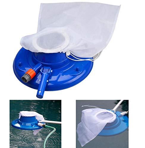 WYVV Kescher Schwimmbad Blatt Skimmer Netz, Schwimmbadreinigungsnetz, Kescher Poolreinigung Feinmaschig Set, Poolreinigungsset Komplett Skimmer, Für Dreck, Blätter (Blue)