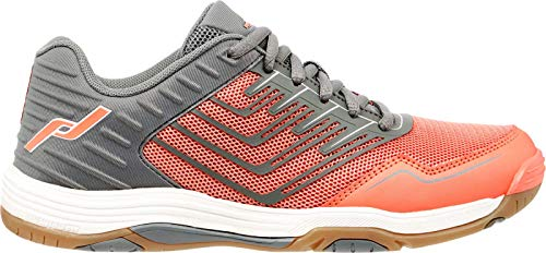 Pro Touch Damen Rebel 3 Volleyball-Schuh, Grey/Red Light, 42 EU