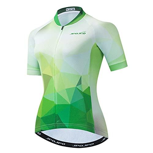 Weimostar Radtrikot Damen Damen Bike Top Reißverschluss Fahrradhemd Kurzarm Rennradbekleidung Racing MTB Mountain Cloting Sommer S.