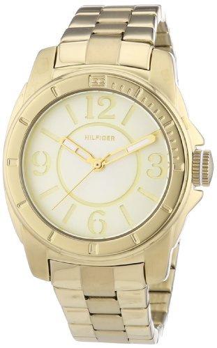 Tommy Hilfiger Watches 1781139 - Reloj analógico de Cuarzo para Mujer, Correa de Acero Inoxidable Chapado Color Dorado