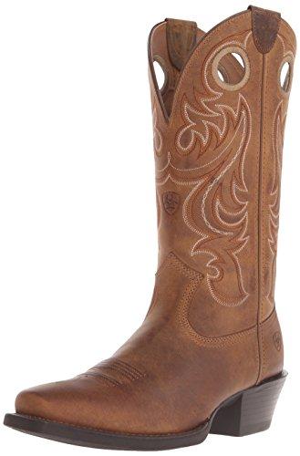 Ariat Men's Sport Square Toe Western Cowboy Boot, Powder Brown, 10 D US