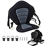 Deluxe Padded Kayak Seat Fishing Boat Seat Deluxe Sit-On-Top Canoe Seat...